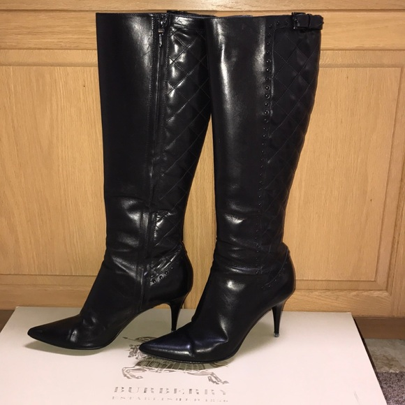 2e2bffac670 Burberry Shoes | Knee High Tall Quilted Boots | Poshmark